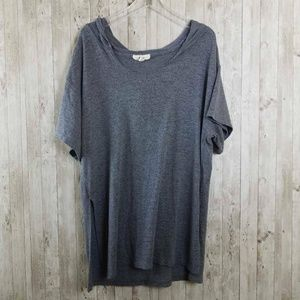 N/P Heather Gray Scoop Neck Lightweight Sweater